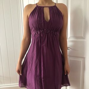Esley purple halter dress